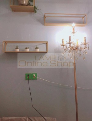wedding decor gold crystal Floor Lamp party led floor light Crystal Candle holder Vertical bedroom Study Living Room Piano Light